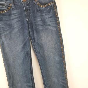 J & Company Size 28 Ocean Rocks Studded Jeans